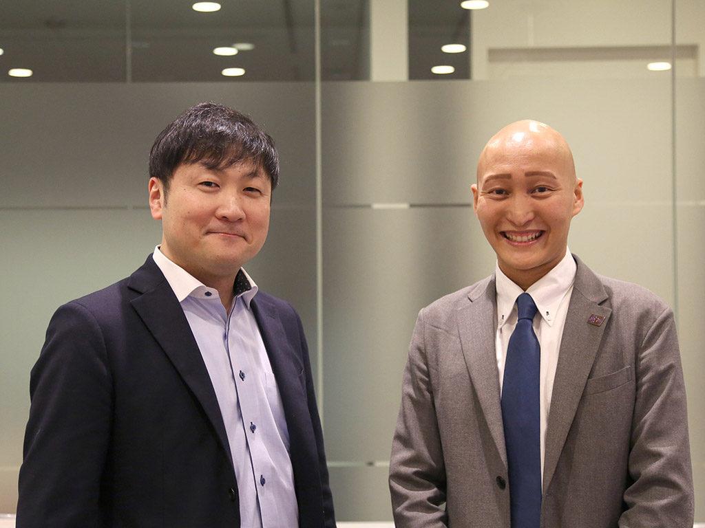 曽和氏と弊社取締役の竹田