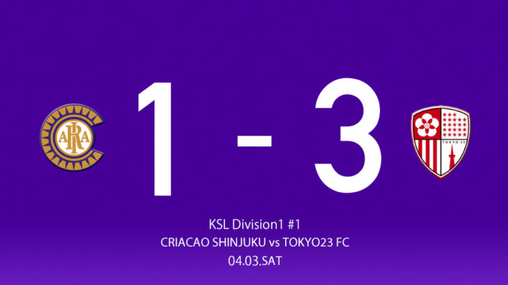関東サッカーリーグ1部前期第1節 vs 東京23FC|試合結果